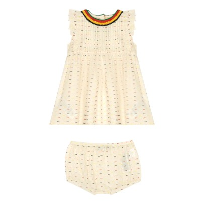 Stella McCartney Kids Apricot Dobby Spot Dress + Bloomers-listing
