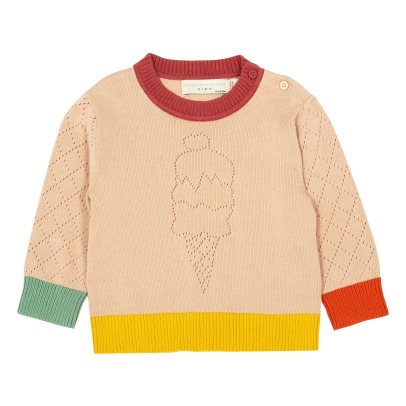 Stella McCartney Kids Adler Ice Cream Cone Organic Cotton Jumper-listing