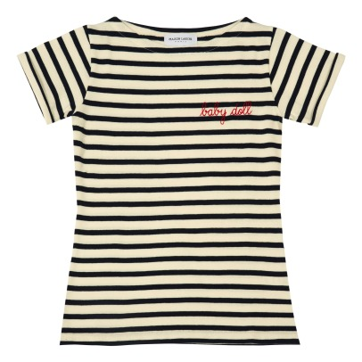 "Maison Labiche ""Baby Doll"" Embroidered Marinière T-Shirt - Women's Collection-listing"