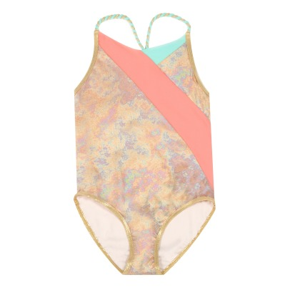Little Marc Jacobs 1 Piece Swimsuit with Woven Straps-listing