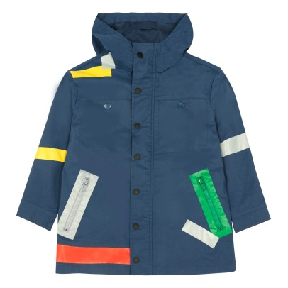 Stella McCartney Kids Giacca a vento impermeabile con bande colorate Liam-listing