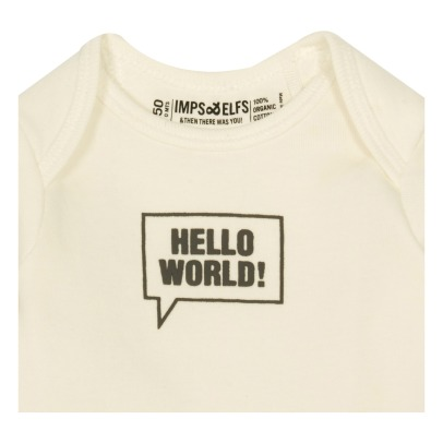 Imps & Elfs Hello World Organic Cotton T-Shirt-listing
