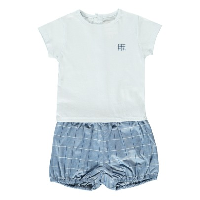 CARREMENT BEAU Checked T-Shirt + Bloomers-listing