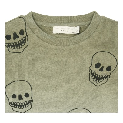 Stella McCartney Kids Biz Skull Organic Cotton Sweatshirt-listing