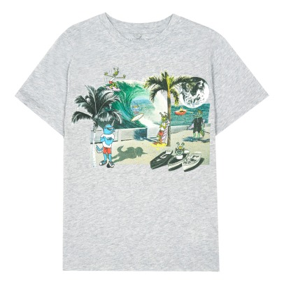Stella McCartney Kids Arrow Post Card Organic Cotton T-Shirt-listing