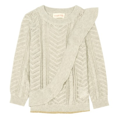 Simple Kids Pop Ruffled Hemstitch Jumper-listing