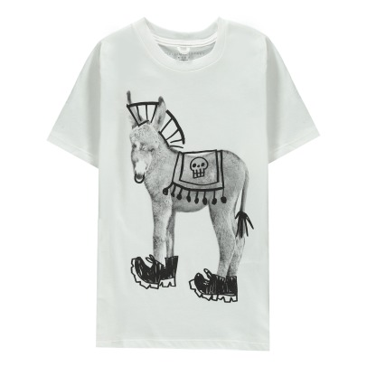 Stella McCartney Kids Arlo Donkey Organic Cotton T-Shirt-listing