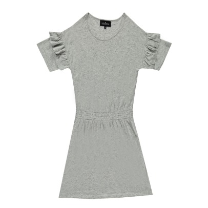 Little Remix New Blos Ruffled Linen Dress-listing