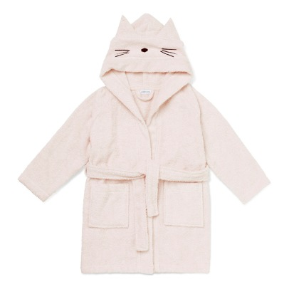 Liewood Lily Cat Organic Cotton Sweat Dressing Gown-listing