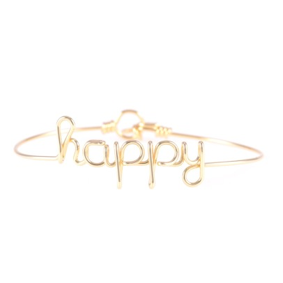 Atelier Paulin Happy Gold Plated Copper Wire Bracelet-listing