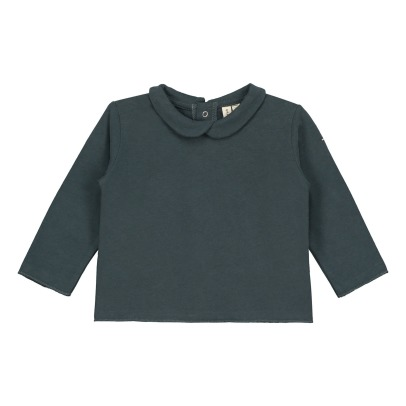 Gray Label Organic Cotton T-Shirt with Peter Pan Collar-listing