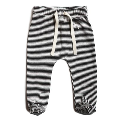 Gray Label Organic Cotton Striped Footed Jogging Bottoms-listing