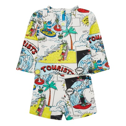 Stella McCartney Kids Completo T-shirt + shorts anti-UV staap fumetto Boppers-listing