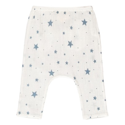 Louis Louise Pantalone in crepe di cotone a stelle Jungle -listing