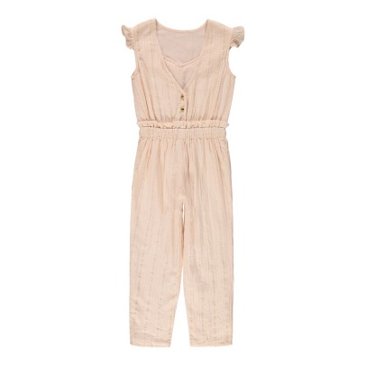 Louis Louise Margot Ruffled Lurex Striped Jumpsuit-listing