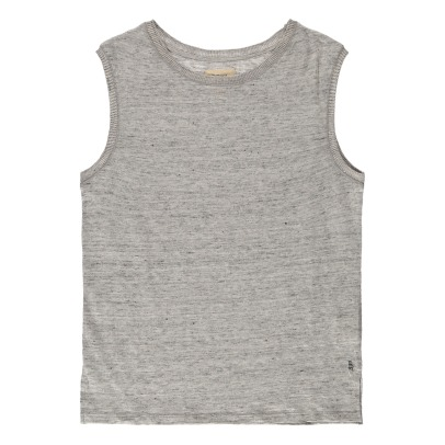 Bellerose Movie81 Linen Ribbed Side Vest Top-product