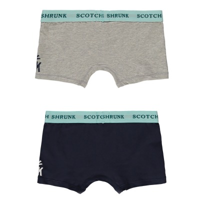 Scotch & Soda Lote Boxers Liso	-listing