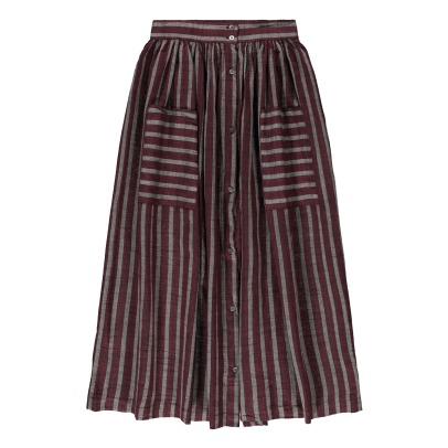 Soeur Delhi Buttoned Stripe Skirt-listing