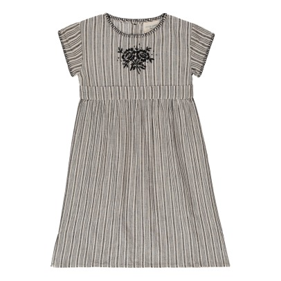 Louis Louise Olivia Embroidered Stripe Maxi Dress-listing