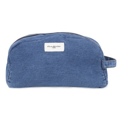 Rive Droite Hermel Raw Denim Toiletry Bag-listing