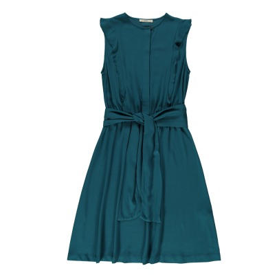 Sessun Quetzal Ruffled Belted Dress-listing