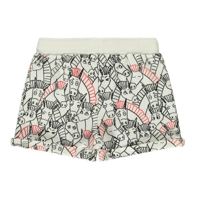 Stella McCartney Kids Cookie Donkey Organic Cotton Fleece Shorts-listing
