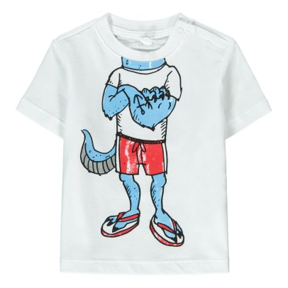 Stella McCartney Kids Chuckle Monster Organic Cotton T-Shirt-listing