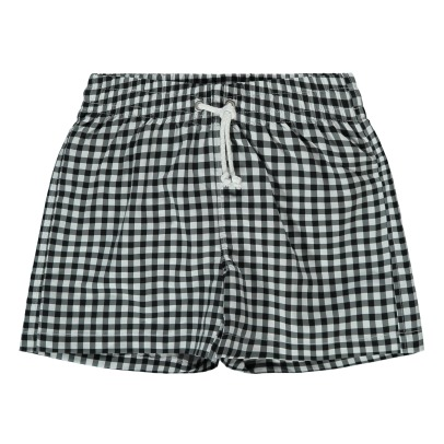 Bonnet à pompon Checked Swim Shorts-listing