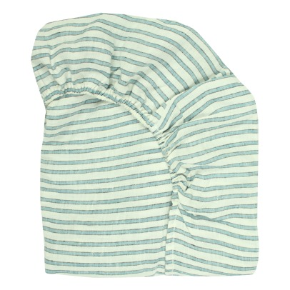 Lab Tricolour Stripe Linen Fitted Sheet-listing