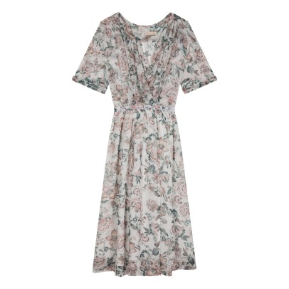 Louise Misha Ester Floral Silk Dress - Women's Collection-listing