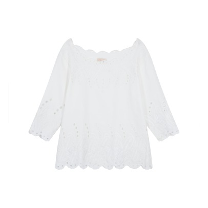 Louise Misha Minouchka Cotton and Linen Embroidered Top - Women's Collection-listing