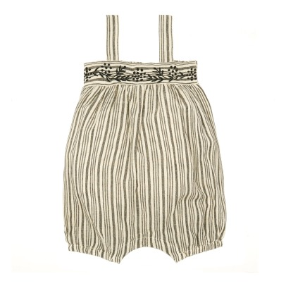 Louis Louise Melon Embroidered Stripe Romper-listing