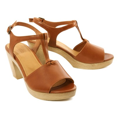 Sessun Canopy Leather Clog Sandals-listing