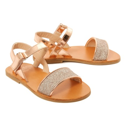 Manuela de Juan  Opal Glitter Leather Sandals-product