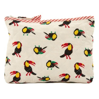 Le Petit Lucas du Tertre Toucans Cotton Toiletry Bag-listing