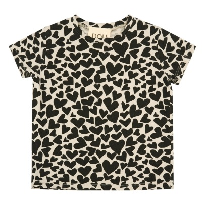 Douuod Heart Printed T-Shirt-listing
