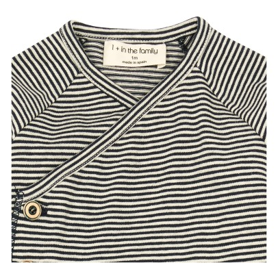 1+ IN THE FAMILY Momo Wrap Fine Striped T-Shirt-listing