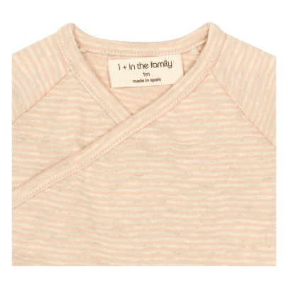 1+ IN THE FAMILY Momo Wrap Fine Stripe T-Shirt-listing