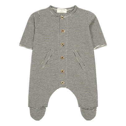 1+ IN THE FAMILY Giotto Fine Striped Footed Pyjamas-listing
