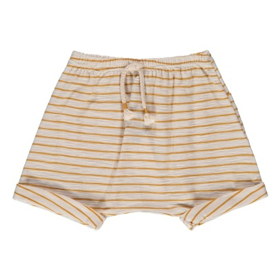 1+ IN THE FAMILY Pollock Striped Harem Shorts-listing