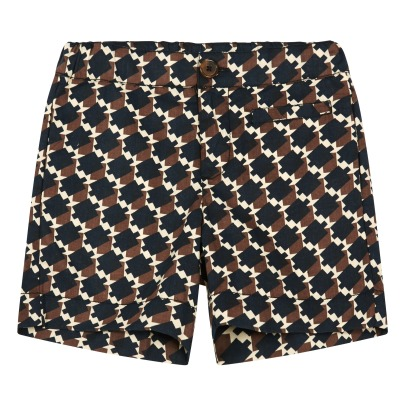 Caramel Buffalo Geometric Shorts-product