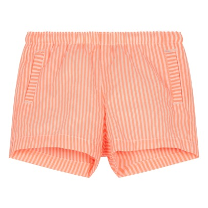Caramel Austin Striped Swimshorts-listing