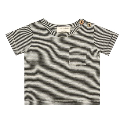 1+ IN THE FAMILY Albert Fine Striped T-Shirt with Pocket-listing
