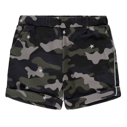 Douuod Camouflage Sweat Shorts-listing