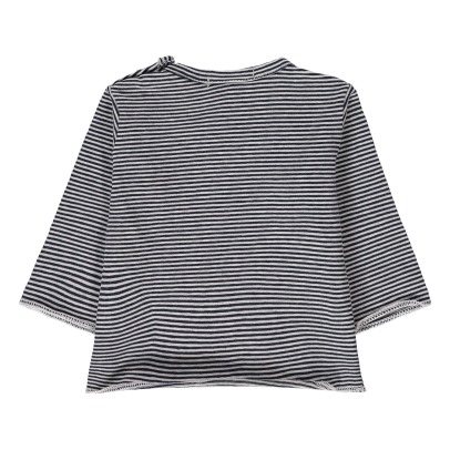 1+ IN THE FAMILY Yago Fine Striped T-Shirt-listing