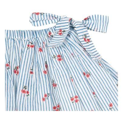Simple Kids Cornetto Floral Striped Skirt-listing