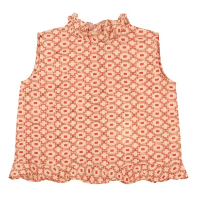 Caramel Chilika Geometric Ruffled Top-product