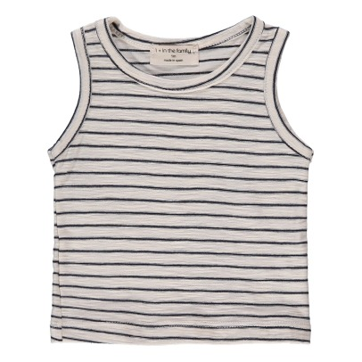 1+ IN THE FAMILY Delaunay Fine Striped Vest Top-listing