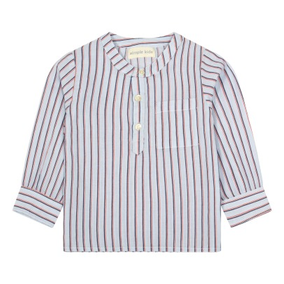 Simple Kids Spelt Striped Kurta-listing
