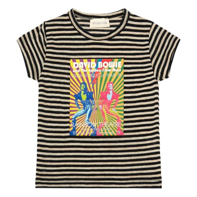 Simple Kids T-shirt a righe Bowie -listing